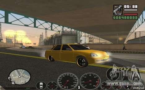 VAZ Lada Priora Taxi for GTA San Andreas right view