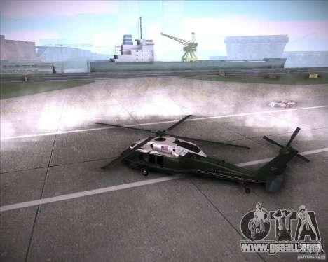 Sikorsky VH-60N Whitehawk for GTA San Andreas left view