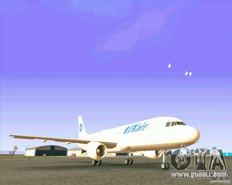 Airbus A-320 airline UTair for GTA San Andreas left view