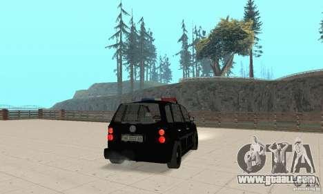 Volkswagen Touran 2006 Police for GTA San Andreas left view