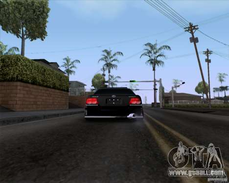 Toyota Chaser jzx100 Drift Police for GTA San Andreas back left view