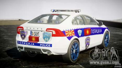 Volvo S60 Macedonian Police [ELS] for GTA 4 side view