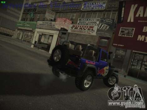 Jeep Wrangler Red Bull 2012 for GTA San Andreas left view