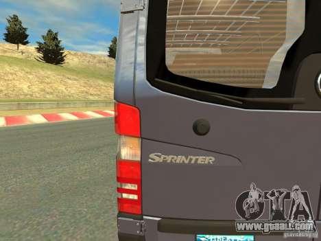Mercedes-Benz Sprinter 2500 for GTA 4 back view