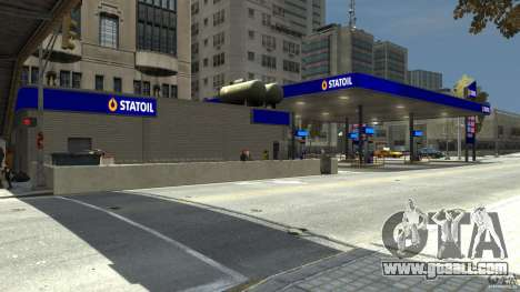 Statoil Petrol Station for GTA 4 third screenshot
