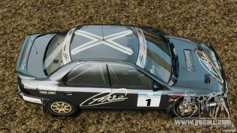 Subaru Impreza WRX STI 1995 Rally version for GTA 4 right view