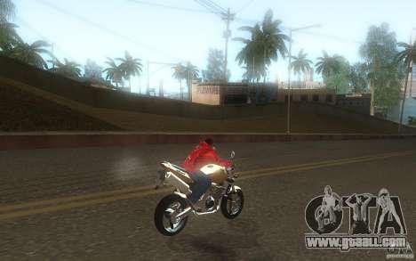 Honda CBF 600 Hornet for GTA San Andreas back view