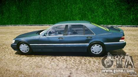 Mercedes Benz SL600 W140 1998 higher Performance for GTA 4 left view