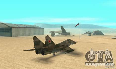 MIG-29 for GTA San Andreas left view