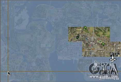 The new map and radar for GTA San Andreas second screenshot