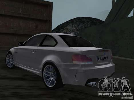 BMW 1M Coupe RHD for GTA Vice City back left view
