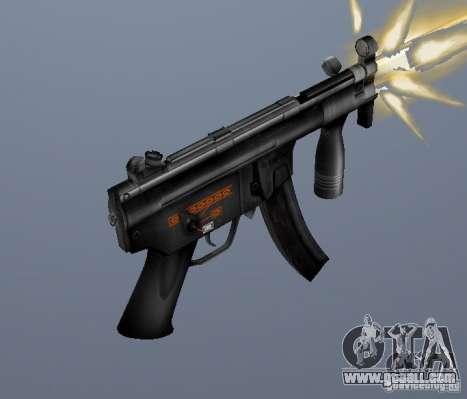 H&K MP5K for GTA San Andreas second screenshot