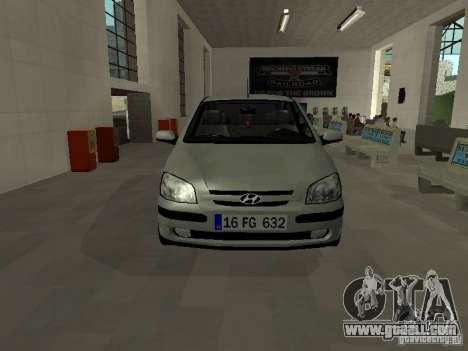 Hyundai Getz for GTA San Andreas left view