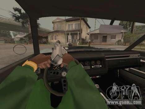 SabreGT from GTA 4 for GTA San Andreas inner view
