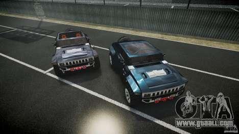 Hummer HX for GTA 4 bottom view