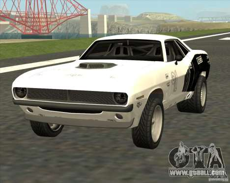 Plymouth Hemi Cuda Rogue for GTA San Andreas back left view