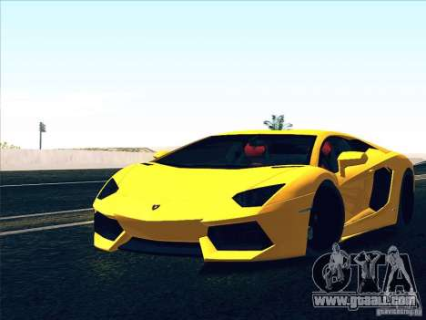Lamborghini Aventador LP700-4 2011 V1.0 for GTA San Andreas interior
