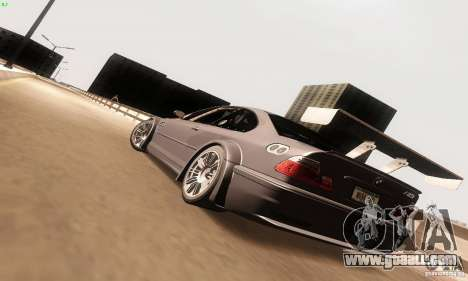 BMW M3 GTR for GTA San Andreas back left view