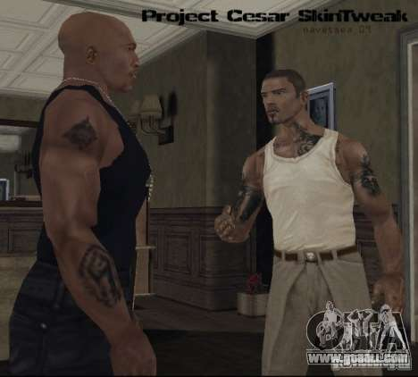 Reteksturizaciâ characters for GTA San Andreas forth screenshot