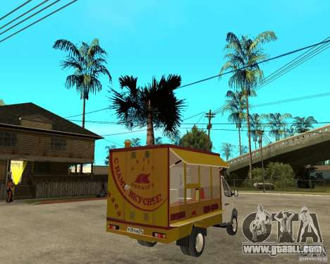 Gazelle Gaz-3302 Grill for GTA San Andreas back left view