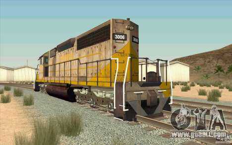 Clinchfield SD40 (Yellow & Grey) for GTA San Andreas back left view