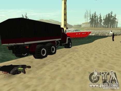 KrAZ 260 for GTA San Andreas back view