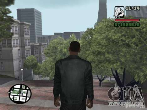 Jacket without a picture from behind for GTA San Andreas