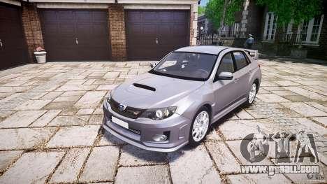 Subaru Impreza WRX 2011 for GTA 4