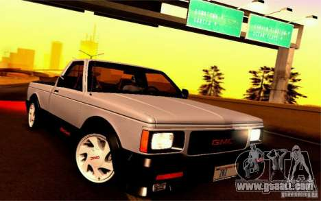 GMC Syclone Stock for GTA San Andreas back left view