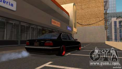 BMW E38 750LI for GTA San Andreas back left view