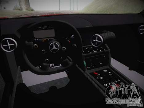 Mercedes-Benz SLS AMG GT3 Black Falcon 2011 for GTA San Andreas inner view