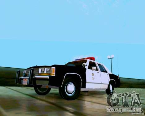 Ford Crown Victoria LTD LAPD 1991 for GTA San Andreas back left view