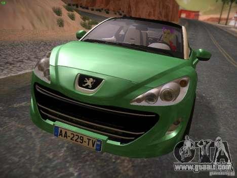 Peugeot RCZ 2010 for GTA San Andreas