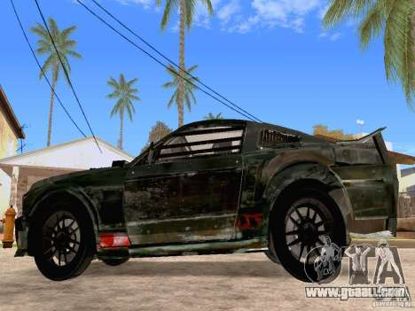 Ford Mustang Death Race for GTA San Andreas left view