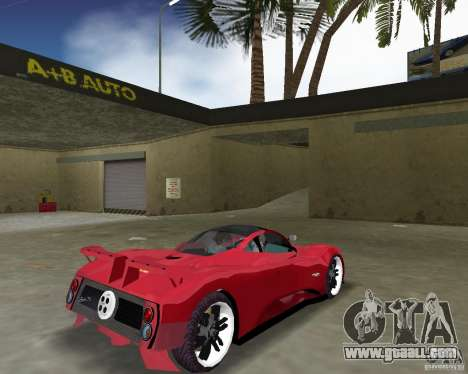 Pagani Zonda S for GTA Vice City right view
