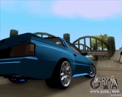 Mitsubishi Starion for GTA San Andreas inner view