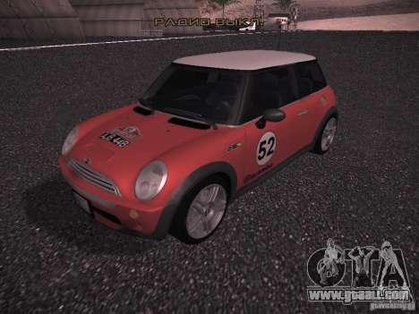 Mini Cooper S for GTA San Andreas interior