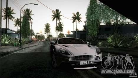 Aston Martin Vanquish V12 for GTA San Andreas side view