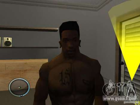 THE NEW FACE OF CJ for GTA San Andreas second screenshot