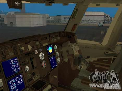 Boeing 767-300 British Airways for GTA San Andreas inner view