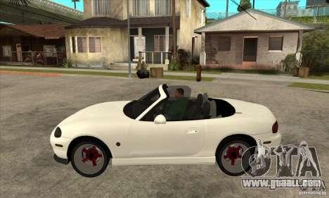 Mazda MX-5 JDM Convertible for GTA San Andreas left view