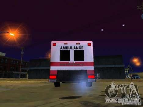 Ambulance 1987 San Andreas for GTA San Andreas back view