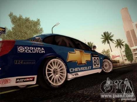 Chevrolet Lacetti WTCC v2 for GTA San Andreas back left view