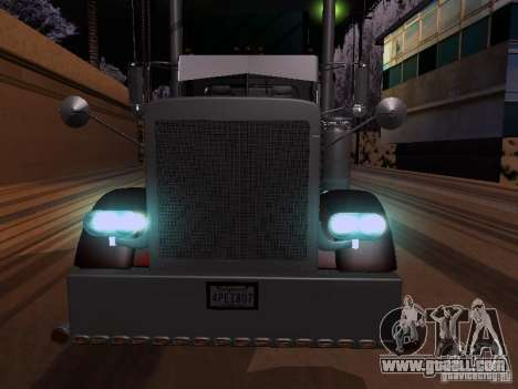 Peterbilt 389 Custom 2009 for GTA San Andreas back left view