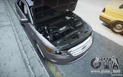 Ford Taurus SHO 2010 for GTA 4 bottom view