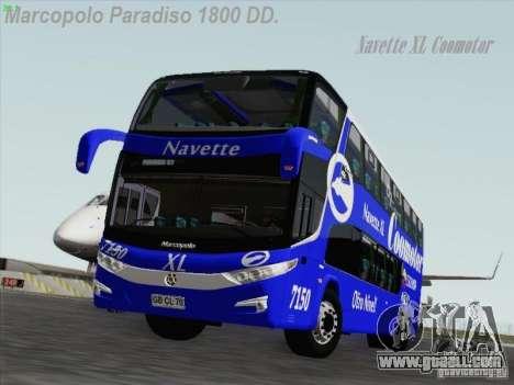Marcopolo Paradiso 1800 DD Navette XL Coomotor for GTA San Andreas