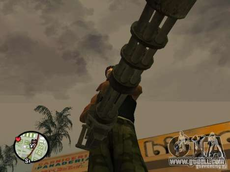 M134 Minigun from CoD: Mw2 for GTA San Andreas seventh screenshot