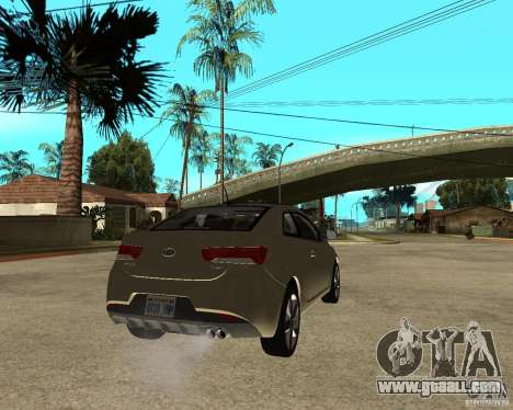 KIA Forte Coup for GTA San Andreas back left view