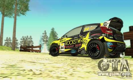 Ford Fiesta Rockstar Energy for GTA San Andreas back view