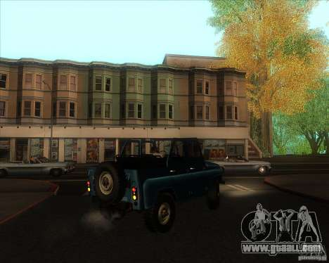 UAZ 31512 Military for GTA San Andreas right view